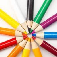 Buntstifte für die Vorbereitung von Meetings