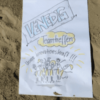 Plakat vom Competence on Top-Teamtreffen in Venedig zum Thema Innovationskraft