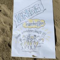 Plakat vom Competence on Top-Teamtreffen in Venedig zum Thema Innovationskraft