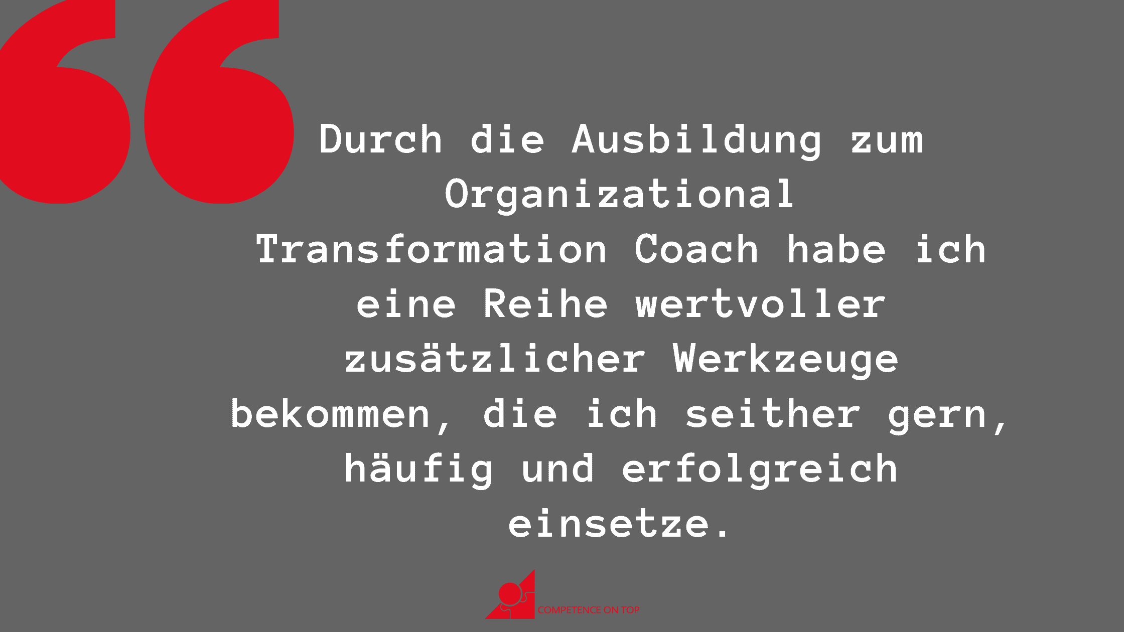 Ausbildung in der Organisationsentwicklung - Zitat von Justine Walter