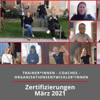 Beitragsbild der AbsolventInnen der dvct- und Steinbeis-Zertifizierung im März 2021 bei Competence on Top